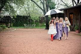 bridal party and gum boots